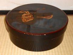 昭和初期〜前半頃の急須、湯呑みお茶セット入れ木製漆塗
