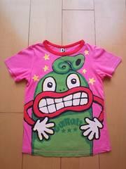 中古ぐるりTシャツ120ピンクpartyparty