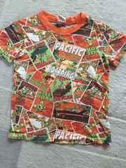 リトルベアクラブ 総柄Tシャツ オレンジ 120cm