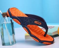 【新品】 軽量フラット ラバーソール ビーチ サンダル オレンジ