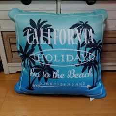 カリフォルニアstyle♪椰子の木プリクッション□西海岸□
