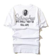 ape 半袖Tシャツ 白 L エイプ a bathing ape po