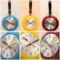 壁掛け時計♪デザインウォールクロック フライパン 11CR5-pan