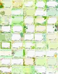 (45)◎C-グリーン系◎種類豊富★宛名シールセット*45種45枚♪