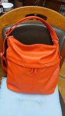 値下げ☆2ウェイショルダーバッグ《オレンジ色》