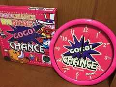 ジャグラー 蓄光掛け時計 ピンク