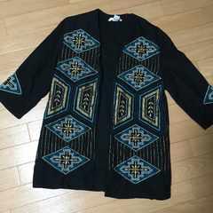 H&M 刺繍ビーズアウター羽織 32
