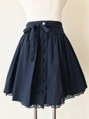 [L'EST ROSE]★ネイビーカラー・膝丈スカート・サイズ[2]★