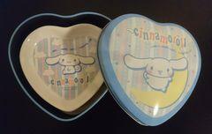 シナモロール★陶器ハート型プレート(2枚セット)★未使用★レア