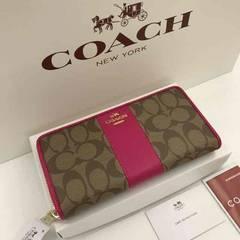 【新品】COACH コーチ 長財布 正規品未使用品 52859ピンクルビー