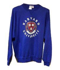 限定1点HarvardUniversity★ハーバードユニヴァーシティーパーカートレーナーLブルー