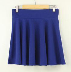 E36  ミニスカート 青 フレア プリーツ 可愛い 人気 送料無料
