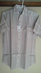 新品!オックスフォード 半袖カジュアルシャツ M