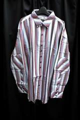 セール新品トリコロールカラー★ビッグシルエット★ロングシャツ2xl長袖