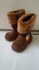 新品!茶色ブーツ★13�pモコモコブーツ