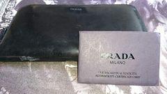 【2300円スタート】カード有  PRADAプラダ  財布  ブラック やや難
