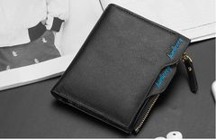 財布 二つ折り財布 メンズ お札 カードケース 小銭入れ 黒色