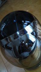 自動二輪車ヘルメット約Mサイズブラックメタリック美品レベル