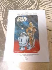 1997年スターウォーズ『C3PO&R2-D2』テレホンカード 未使用