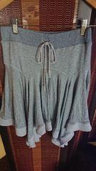 ■春物美品グレー裾変形スカート■