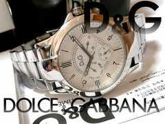 【箱・保証書付】1スタ★ドルガバ D&G 大型 フルメタル 腕時計