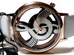 新品・未使用★Geekthink 美しい音符【スケルトン】腕時計★