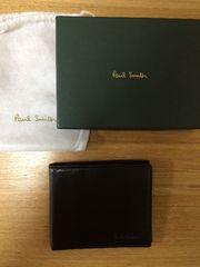 PaulSmith☆メンズ☆黒レザー折り財布