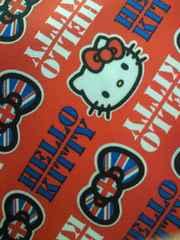 ナムコ 限定 ハローキティ イギリス リボン ロゴ デザイン キャリーバッグ レッド 旅行