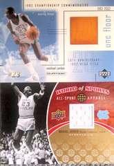 UPPER.DECK.2001&10 マイケル.ジョーダン[MJ]・フロアー&ジャージカード NCAA.