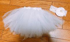 Я】�@ベビーコスチュームドレス?白