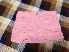 新品未使用ピンクデニムミニスカート