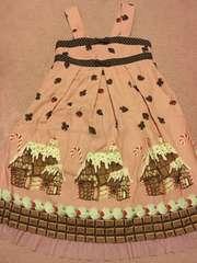 エミリーテンプル ルル お菓子のお家ワンピース140cmピンク