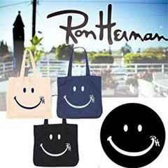 RonHerman【新品】スマイルロゴ入り キャンバストートバッグ 紺