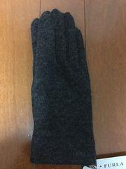 新品 未使用 フルラ カシミア100% グレー手袋