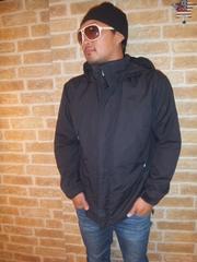 【武骨】ノースフェイス「フロンティアーズパーカー」黒×黒刺繍L♪ミリタリー
