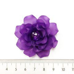 27*�@スタ*裏面シャワー台貼付パーツ*ふわり薔薇*紫*223
