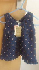 新品子供服cantalkワンピースサイズ70ネイビー
