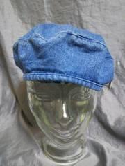 ☆ブルー デニム ベレー帽 未使用品
