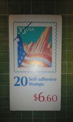 アメリカ33c切手帳(国旗$6.60)♪