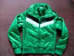 タイトシルエット 中綿 ジャケット グリーン 緑 M
