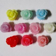 ★デコパーツ★7ミリ薔薇パーツ★10色10個