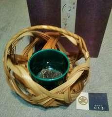 はな篭 たち吉 竹籠+陶器+剣山