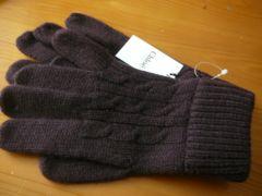 クロエオム/Chloe'HOMMEカシミヤ100%ニット手袋 フリー