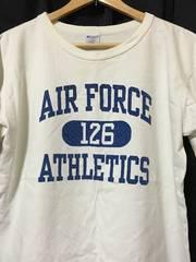 米国製 チャンピオン AIR FORCE Tシャツ T1011 L 白 青 USA