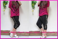 夏新作◆大きいサイズ4Lブラック×サイド迷彩柄◆カーゴパンツ