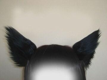 コスプレ小物★猫耳&尻尾セット★黒★Lamento・ラメント