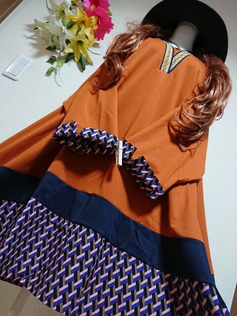★新品タグ8L★プリントチュニ¥6589  < 女性ファッションの