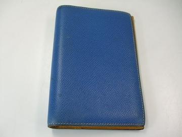エルメスクシュベル手帳カバーブルー中古