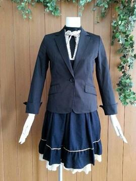 【送料無料/美品】a.v.v(アーベーベー)♪ジャケット★ブラック☆36(S)