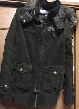 新品☆あったかコーデュロイミリタリーフードジャケットコート